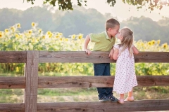 sibling-eskimo-kiss-sunflowers-photography