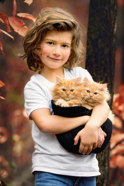 Boy-With-Kittens-Pet-Photographer