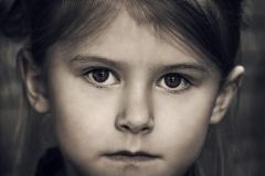 child acting headshots dramatic B&W