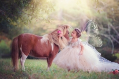 styled child portraits with pony
