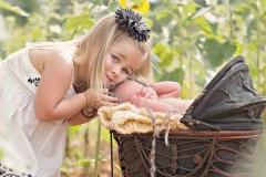 newborn-siblings-photographer-sunflowers