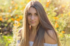 Senior-Portrait-Photography-Flower-Garden-Close-Up