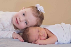 newborn sibling woodstock photographer