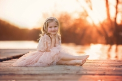 child photography by the river