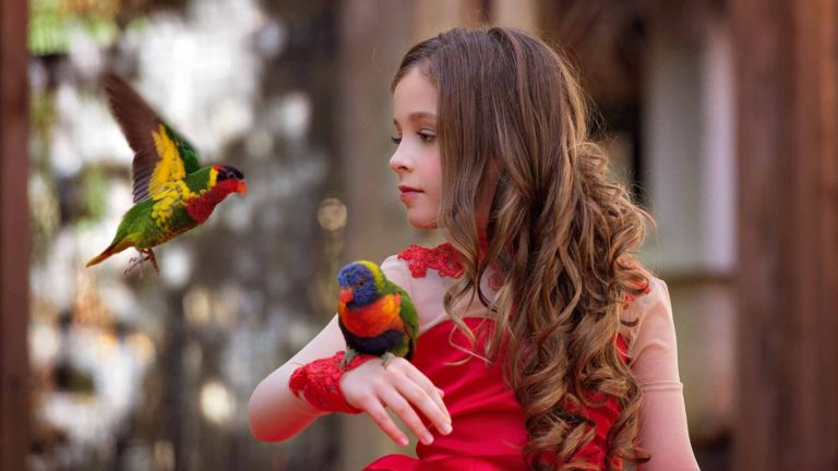 child-photography-red-dress-birds-photography