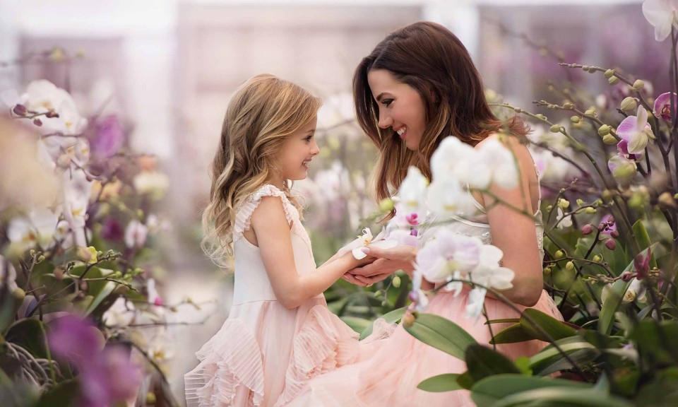 milton photographer, mother-daughter photography, orchids