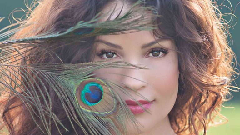 styled-model-peacock-feather-photography