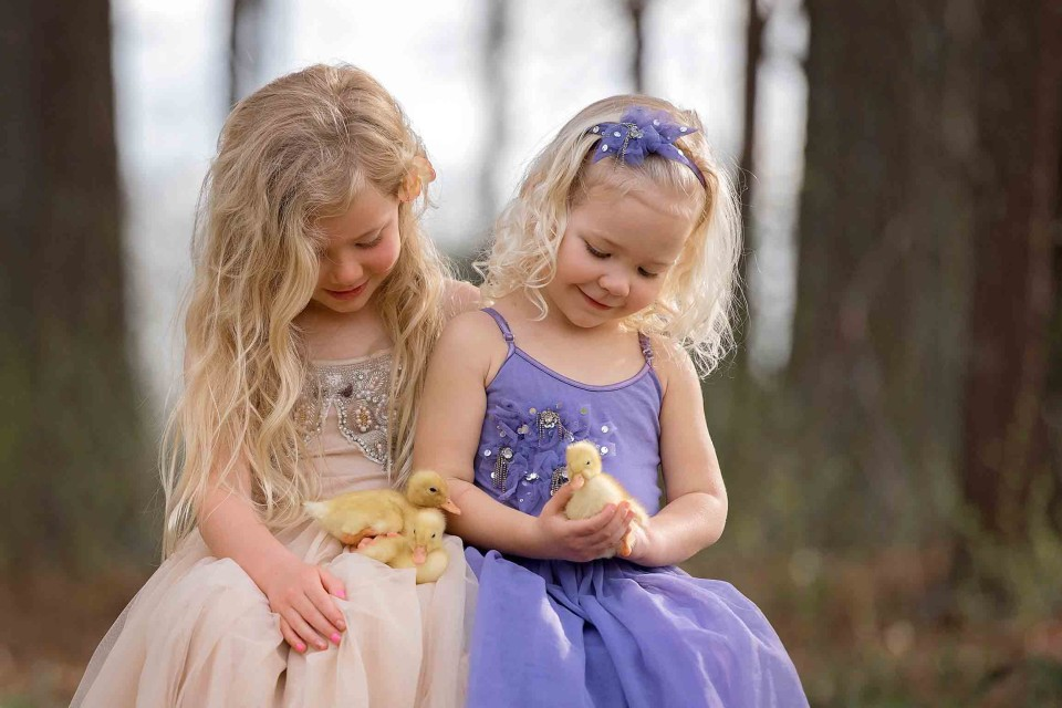 sisters-with-ducklings-photographer