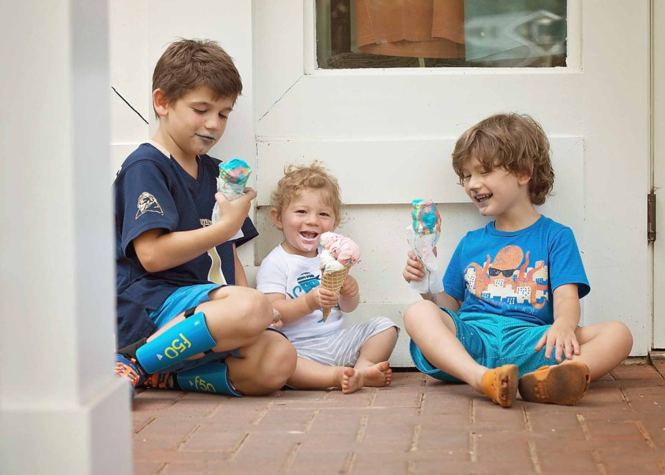 Three-Boys-Eating-Ice-Cream-Photography